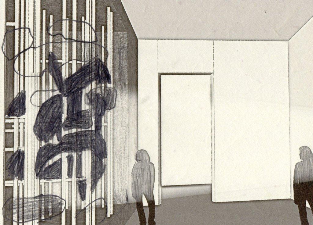 """Angelika Markul, """"Wykopaliska przyszłości"""", 2016; instalacja: metal, wosk, filc, płyta OSB (dzięki uprzejmości artystki / Materiały prasowe Centrum Sztuki Współczesnej Zamek Ujazdowski)"""