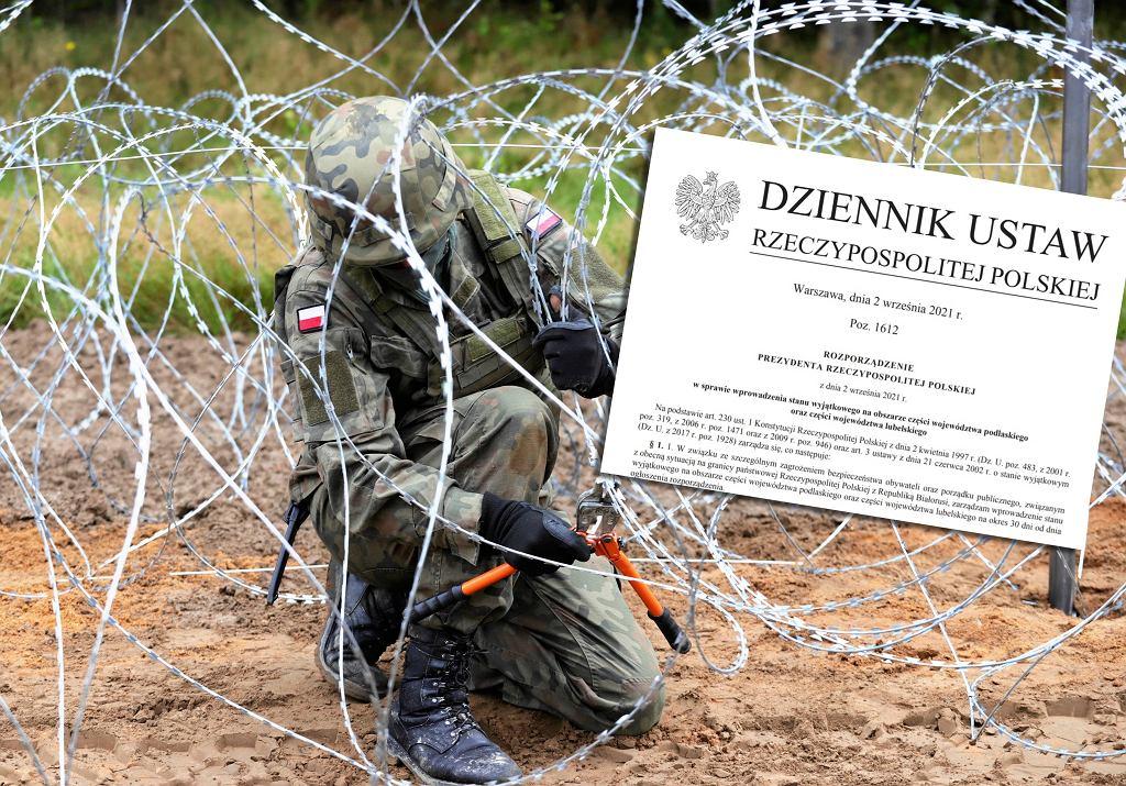 Rozporządzenie Prezydenta Rzeczypospolitej Polskiej z dnia 2 września 2021 r. w sprawie wprowadzenia stanu wyjątkowego na obszarze części województwa podlaskiego oraz części województwa lubelskiego