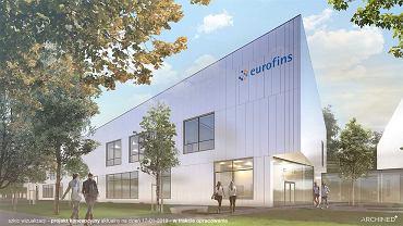 Laboratorium Eurofins w Łodzi (wizualizacja)
