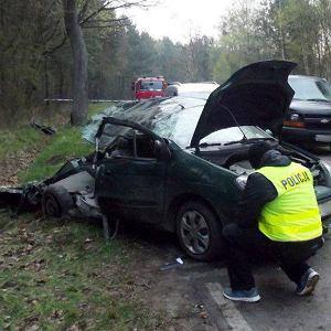 Wypadek w Klamrach koło Chełmna