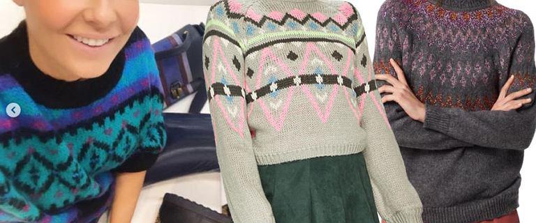 Wzorzyste swetry w stylu Małgorzaty Rozenek. Już od 69 zł!