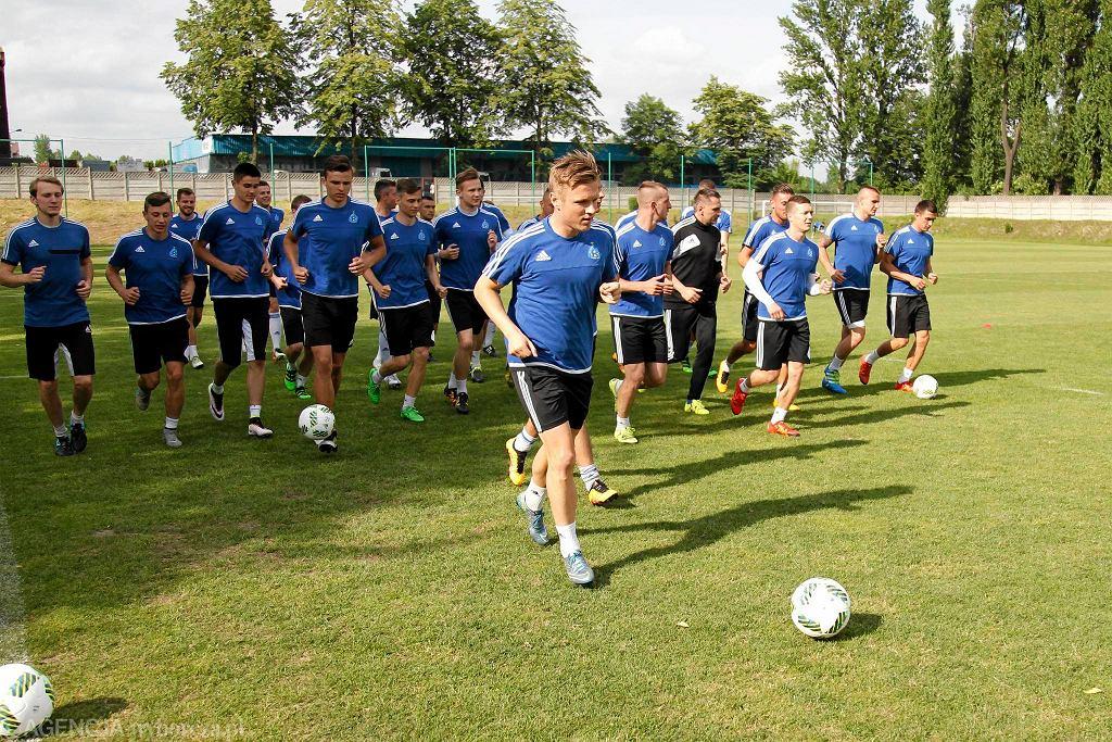 Tomasz Podgórski na pierwszym treningu Ruchu w tym sezonie