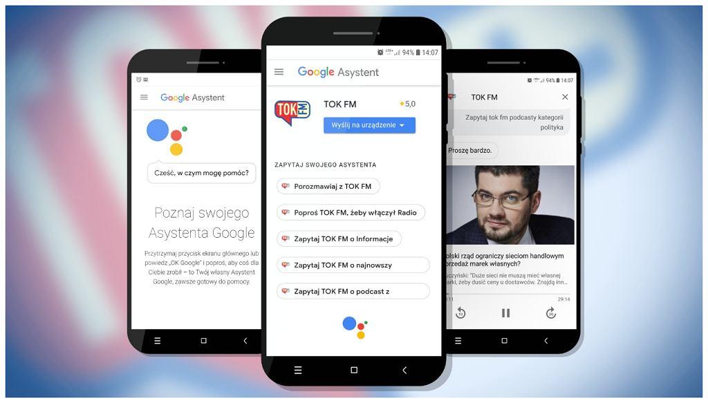 Akcja TOK FM na platformie Asystent Google