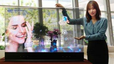 Takie telewizory to my rozumiemy! Oto przezroczysty i lustrzany OLED Samsunga