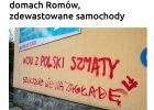 """""""Szykujcie się na zagładę"""". Narodowcy grożą Romom w Limanowej, niszczą samochody"""