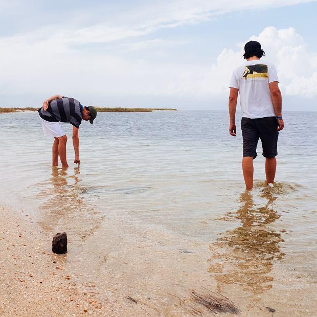 'Tak wyglądała plaża nad Morzem Czarnym w połowie września. Chociaż temperatura była bardzo sympatyczna, nie zastaliśmy już nikogo'.