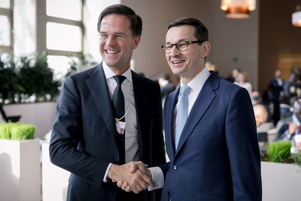Mateusz Morawiecki i Mark Rutte, premier Holandii