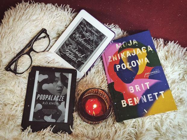Książki 'Moja najdroższa', 'Podpalacze' oraz 'Moja znikająca połowa'