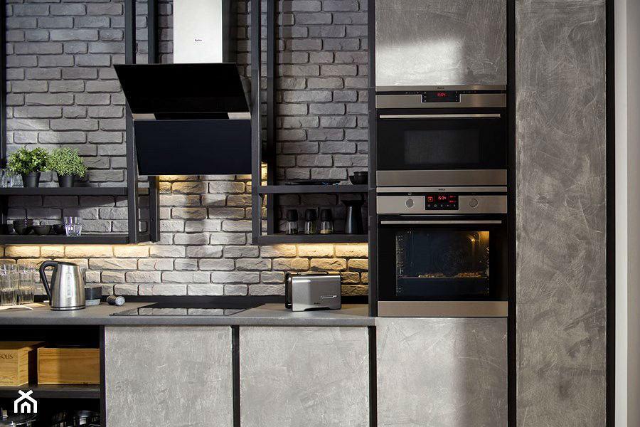 Szare ściany w kuchni