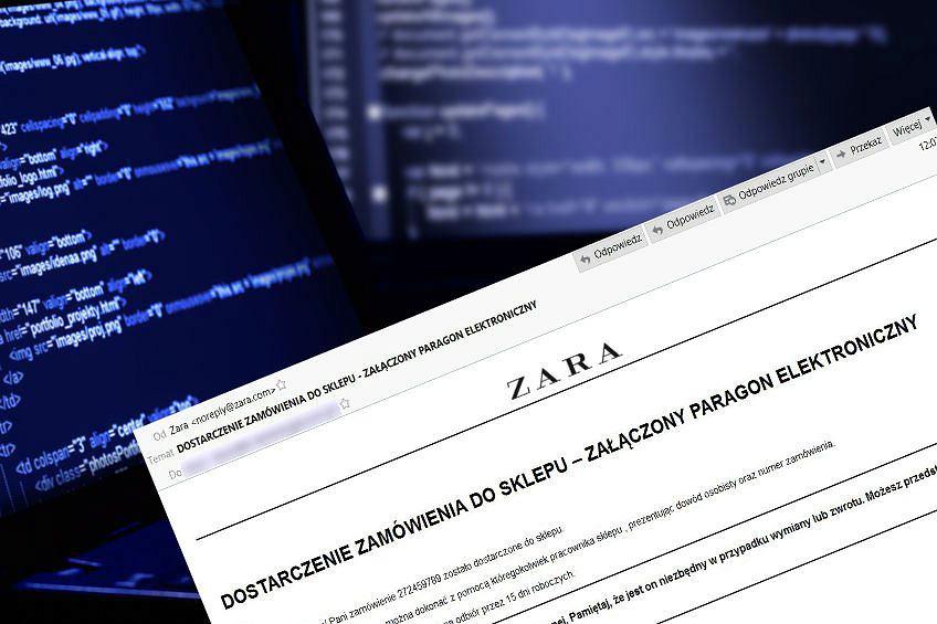 Fałszywe maile z Zara.com