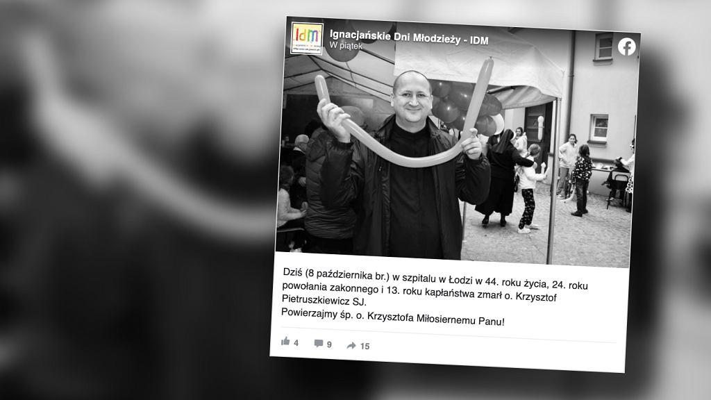 Nie żyje ojciec Krzysztof Pietruszkiewicz