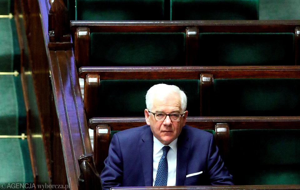 Minister Jacek Czaputowicz podczas 78. Posiedzenia Sejmu VIII Kadencji, Warszawa 14.03.2019.