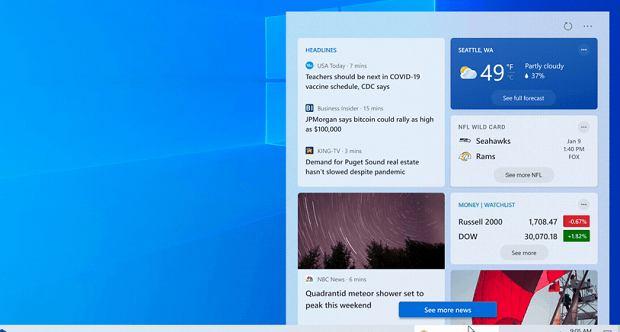 Nowy widżet w Windows 10