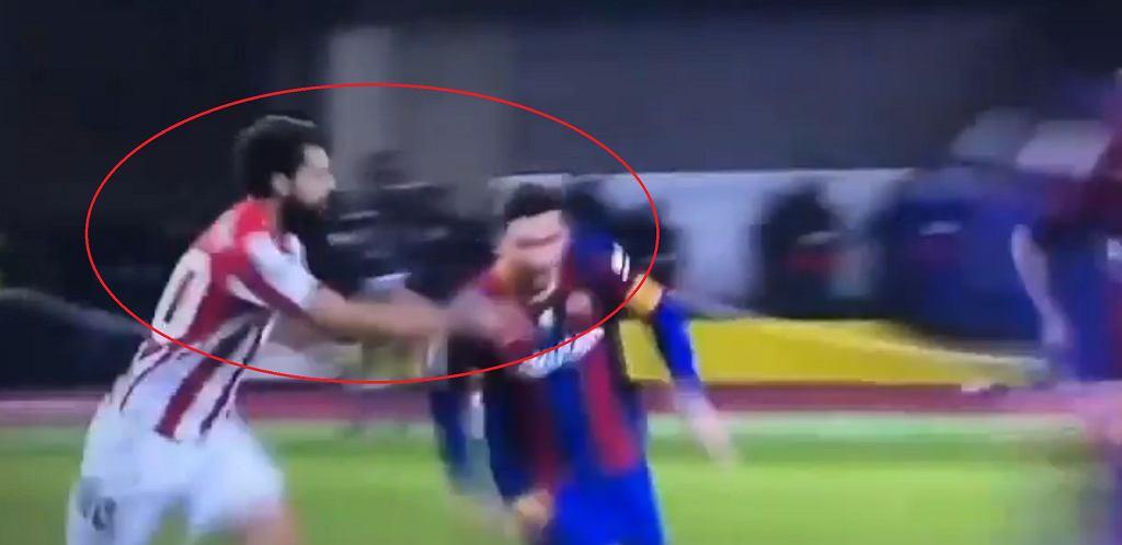 Leo Messi zaatakował przeciwnika
