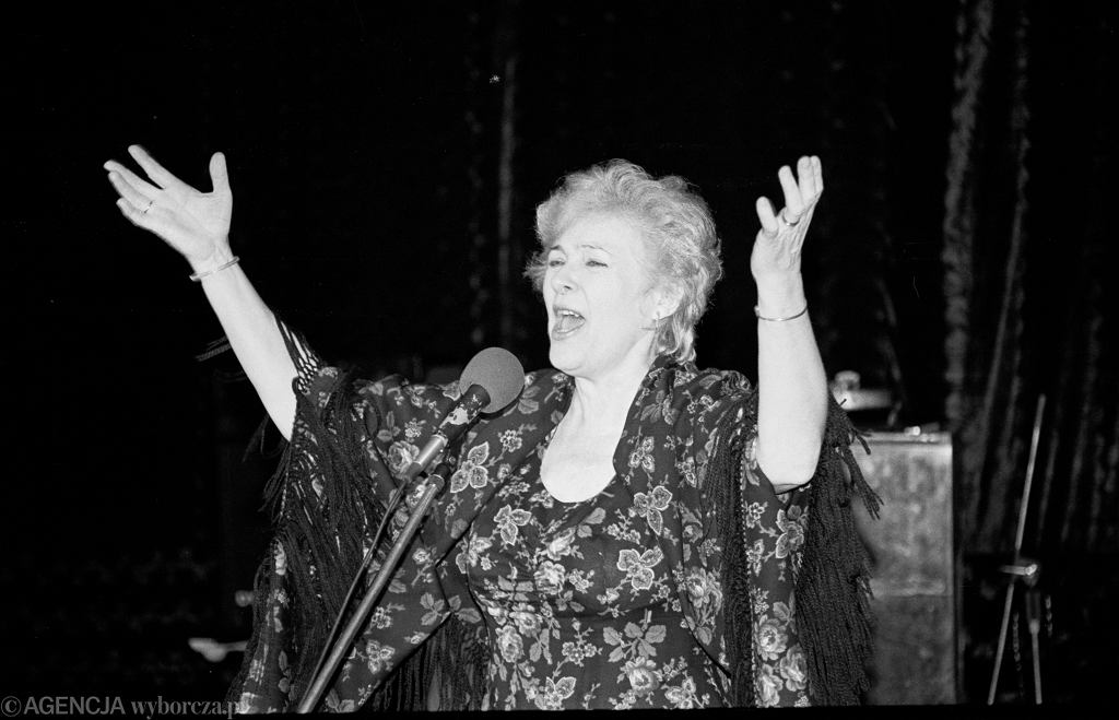 Maria Koterbska na koncercie w 1994 roku