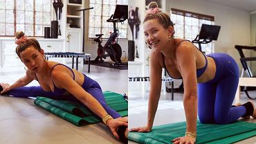 Kate Hudson trenuje na domowej siłowni