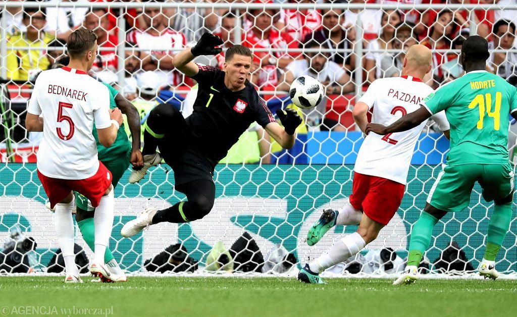 MŚ 2018. Wojciech Szczęsny podczas meczu fazy grupowej Polska - Senegal