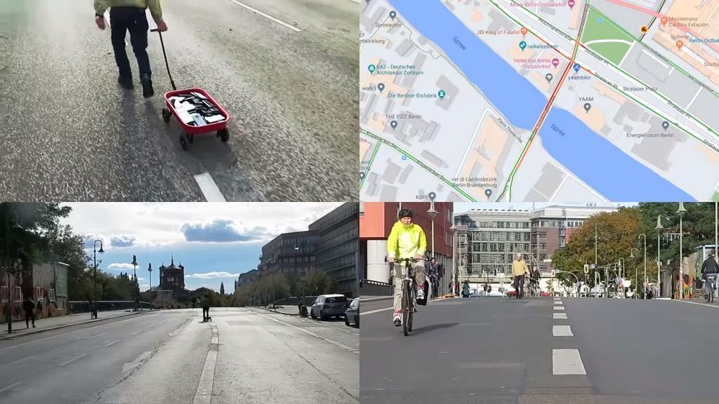 Artysta oszukał Google Maps przy użyciu 99 smartfonów