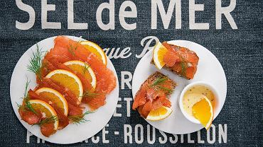 Gravadlax z sosem pomarańczowo-musztardowym