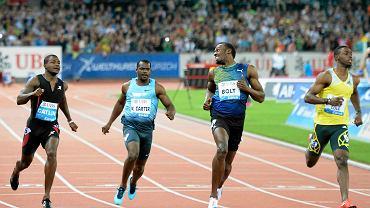 Justin Gatlin, Nesta Carter, Usain Bolt i Kemar Bailey-Cole