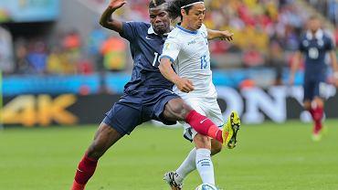 Paul Pogba w meczu Francja - Honduras