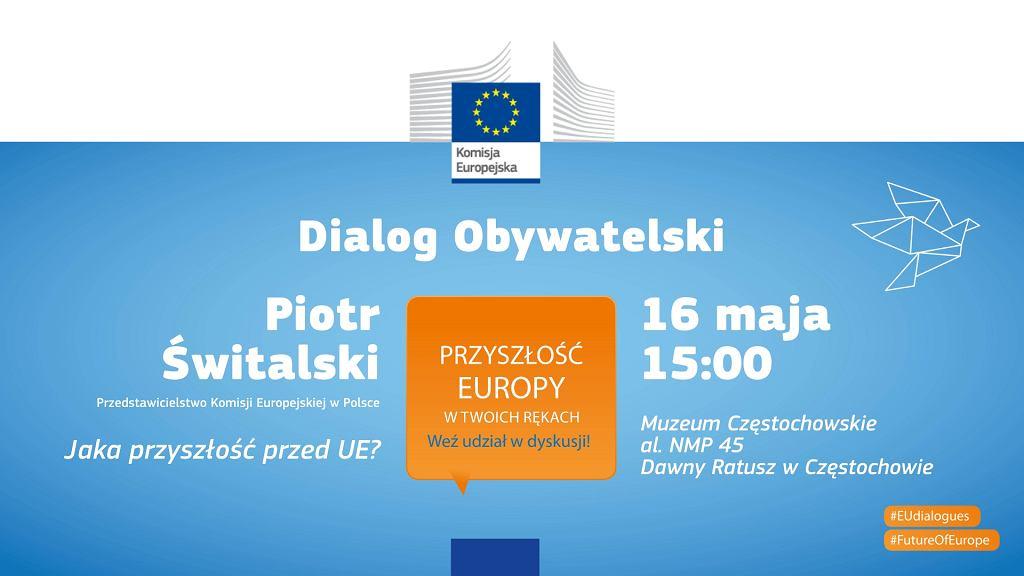 Zaproszenie na debatę Dialog Obywatelski w Częstochowie