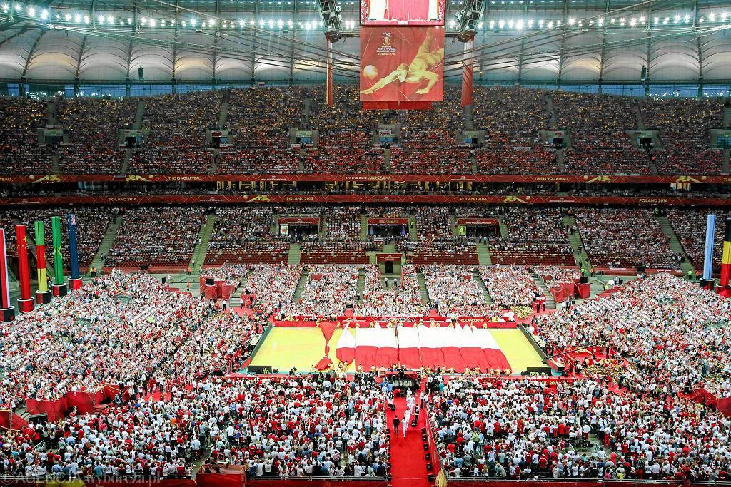 Mecz MŚ w siatkówce na Stadionie Narodowym w Warszawie