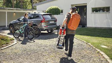 Bagażnik rowerowy Thule EasyFold XT F 2, plecak Thule Rail Backpack 18L