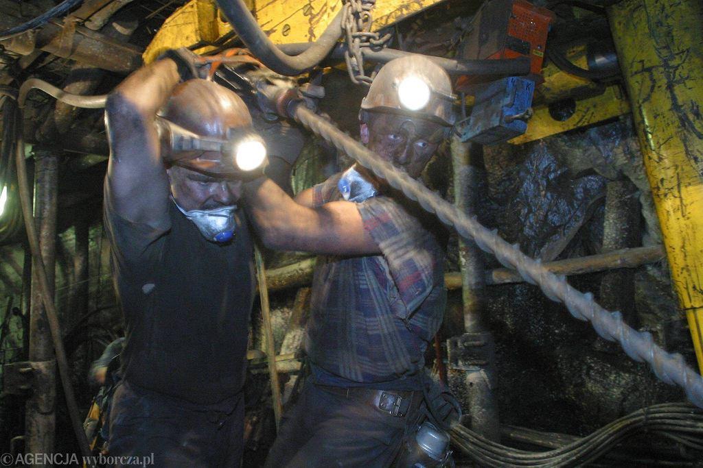 Górnicy w kopalni Kazimierz-Juliusz