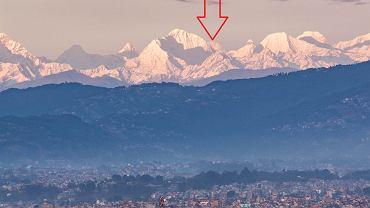Mount Everest pierwszy raz widoczny z Katmandu