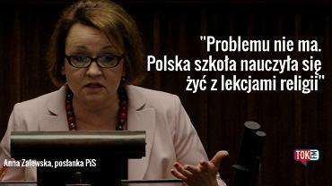 Posłanka PiS Anna Zalewska