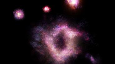 Galaktyka R5519  - wizja artysty