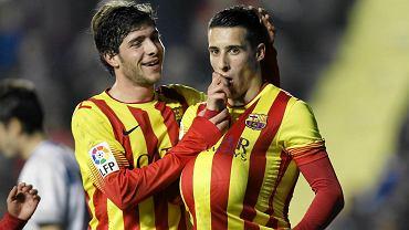 Cristian Tello (z prawej) i Sergi Roberto