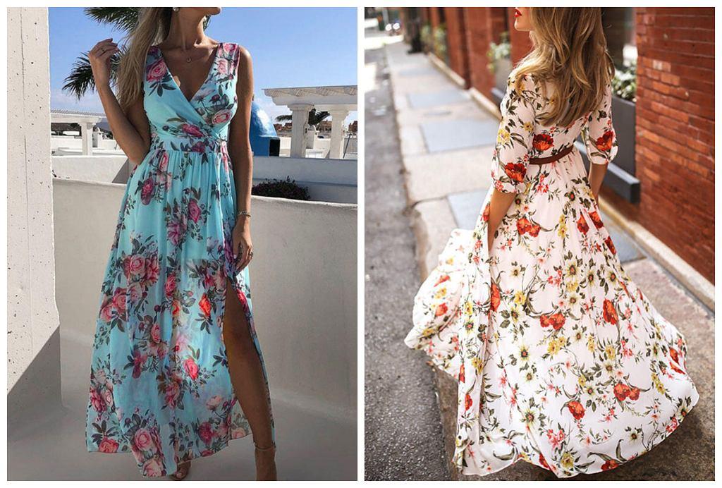 sukienka w kwiaty na wesele