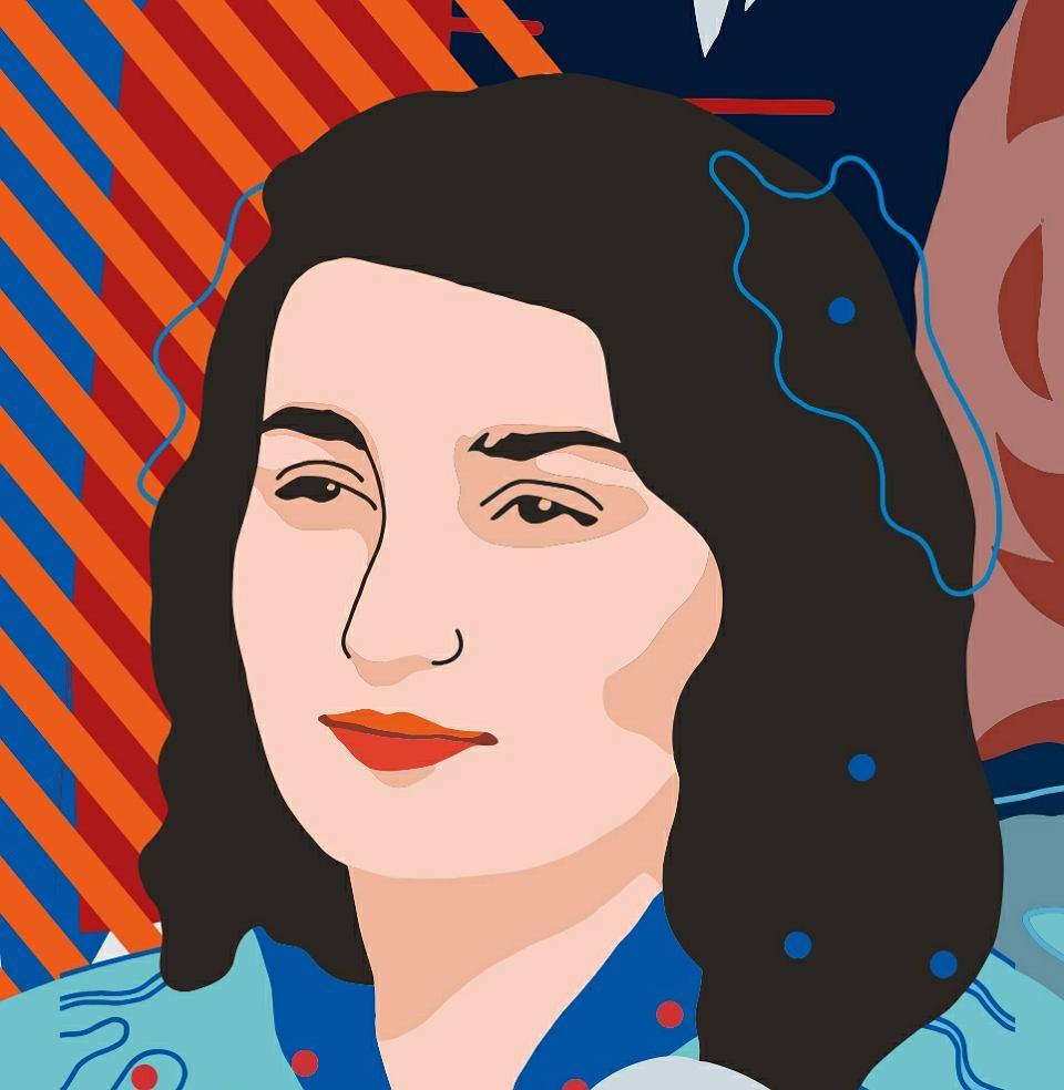 Gabriela Turzyńska, fragment muralu 'Kobiety Wolności'