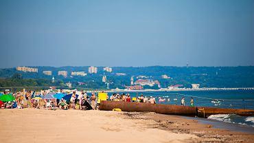Refulacje plaży w gdańskim Jelitkowie