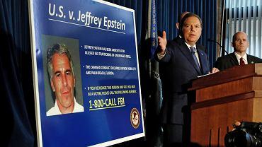 - Zachowania, o które Jeffrey Epstein jest oskarżony, są szokujące - przekonywał na konferencji prasowej Geoffrey Berman, nowojorski prokurator, który wezwał też inne potencjalne ofiary miliardera, by się ujawniły. Nowy Jork, 8 lipca 2019 r.