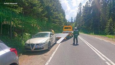 Akcja odholowywania samochodów