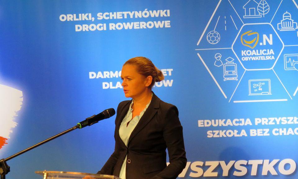 Konwencja wyborcza Koalicji Obywatelskiej, Gorzów Wlkp., 23 września 2018. Barbara Nowacka