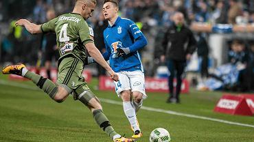Lech Poznań - Legia Warszawa 0:2. Igor Lewczuk (Legia) i Maciej Gajos (Lech)