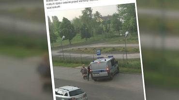 Policjanci pomogli schronić się kobiecie z dziećmi