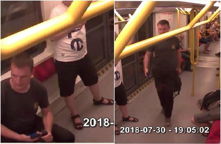 Mężczyzna zepchnął kontrolera ZTM na tory metra. Policja publikuje jego wizerunek