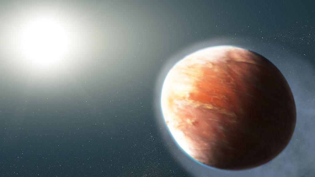Wizja artystyczna WASP-121b i jej gwiazdy