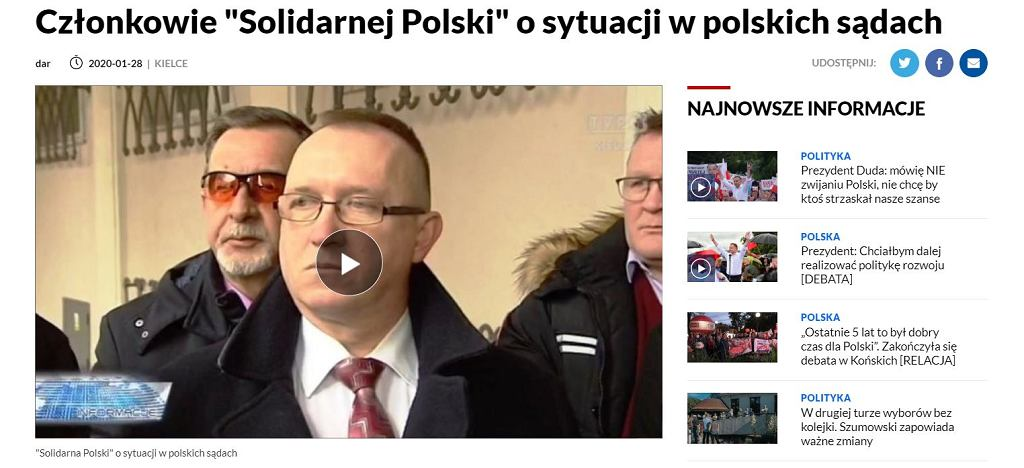 Działacz Solidarnej Polski pojawił się na debacie TVP