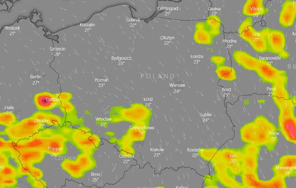 Prognoza pogody na 10 czerwca - burze