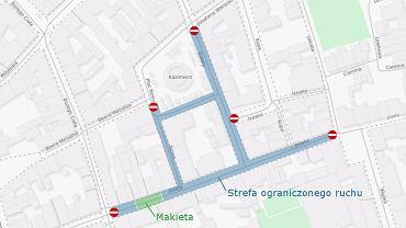 Wizualizacja zwycięskiego projektu ograniczenia ruchu na Kazimierzu