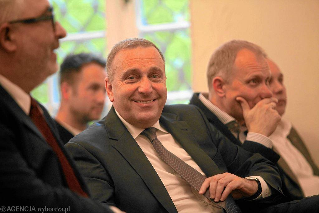 Grzegorz Schetyna podczas zjazdu dolnośląskiej PO
