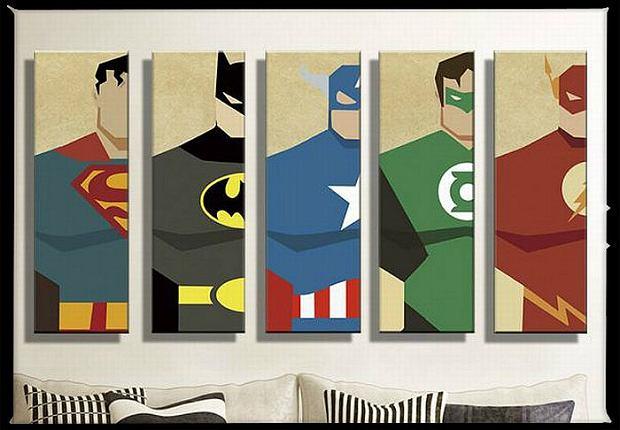 Obrazy z bohaterami komiksów mogą kosztować do 30 dol. - zależy od wzoru. Fot. AliExpress