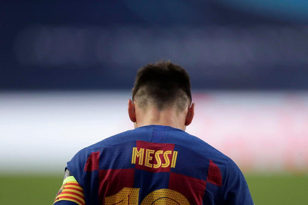Liga Mistrzów. Leo Messi podczas meczu Barcelona - Bayern