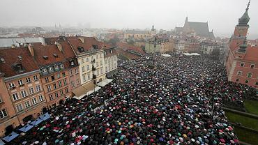 """""""Strajk kobiet"""" w Warszawie"""